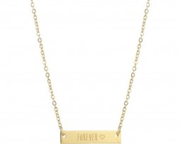 7316-ketting-plaatje-quote-forever-gold